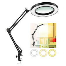 8x USB Magnifying Glass LED Light Foldable Reading Lamp 3 Colors for Needlework