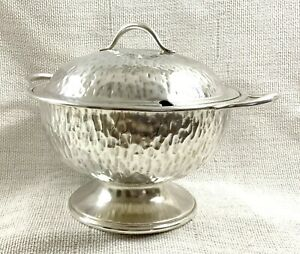 Hukin & Heath Silver Plated Soup Tureen Christopher Dresser Bark Arts and Crafts