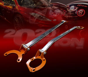FRONT & REAR UPPER STRUT TOWER BAR BRACE FOR 01-05 CIVIC 2/4DR 02-06 ACURA RSX