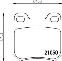 Mintex Rear Brake Pad Set MDB1651  - BRAND NEW - GENUINE - 5 YEAR WARRANTY