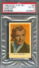 "1958 Dutch Gum Card ""X Nr"" #68 CLARK GABLE Gone With The Wind RHETT BUTLER PSA 4"