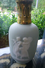 "LAMPE BERGER  PARIS MADE IN FRANCE THARAUD  "" WEDGWOOD GREY- BLUE "" CAMEO WHITE"