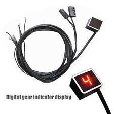 New LED Digital Gear Indicator Motorcycle Display Shift Lever Sensor Red Light *