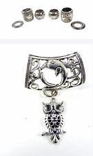 US SELLER-Wholesale Scarf Rings owl animal pendant slider scarf rings set