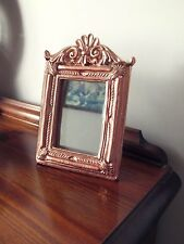 Shabby Chic Copper Rose Gold Ornate Mirror Distressed Vintage Style
