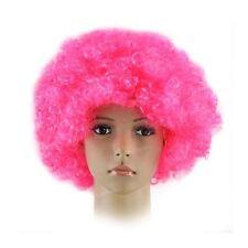 Perruques et toupets roses bouclés pour femme