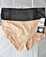 Womens Plus Size 2X/9 Clothes 2-Pack Black Beige Brief Panties NWT $24 Paramour