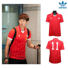 ADIDAS Korea Retro Short Sleeve Jersey Soccer Football Red Uniform World cup