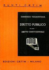 Domenico Tramontana = DIRITTO PUBBLICO VOL. I DIRITTO COSTITUZIONALE
