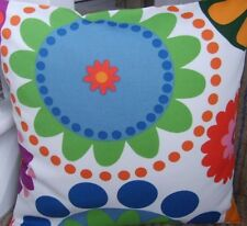 """16"""" NEW CUSHION COVER IKEA FLOWERS RETRO VINTAGE FUNKY RED ORANGE YELLOW GREEN"""
