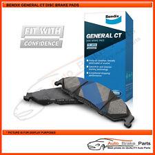 Bendix GCT Rear Brake Pads for DAIHATSU CHARADE DETOMASO 1.6L Hatch - DB1159GCT