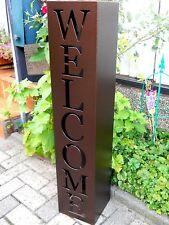 métal colonne Bienvenue antikbroze H100 colonne de plantation jardinières