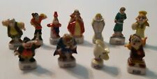 11 Beauty & The Beast Set Mini French Figurines Porcelain Feves Figures Disney