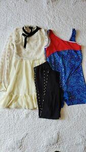 Girl Dance Ballet Leotard Tutu Lot Of 3 Leggings SZ/L/G(10-12) 2 Leotard SZ/LC