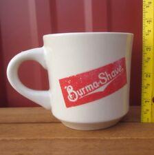BURMA SHAVE throwback coffee mug 1970s stoneware brushless shaving cream cup