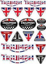 TRIUMPH Motorcycles Decal Set Sticker Vinyl Graphic Factory Logo Adhesive 18 Pcs