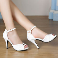 Women Classy  Dress Retro Party Prom High Heels Pumps Bridal Wedding Shoes