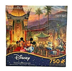 Ceaco Disney Minnie & Mickey in Hollywood Thomas Kinkade 750 Pc Jigsaw Puzzle