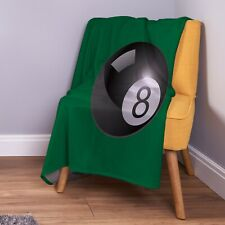 Large 8 Ball Pool Design Soft Fleece Throw Blanket