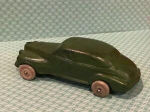 "Vintage Rare AUBURN RUBBER CO. 1940'S  OLDS SEDAN W/ DRIVER Toy Car 6"" Beauty!"
