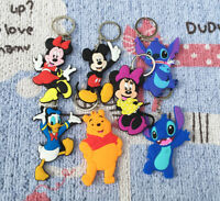 lilo&stitch pooh mickey anime key chain pendant key chains figure keyring