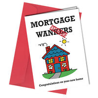 #15 MORTGAGE NEW HOME CARD ADULT FRIEND FAMILY HUMOUR Funny Rude