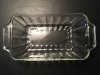 Anchor Hocking 5 x 9 Extra Deep Clear Glass Bread / Meat Loaf Baking Dish 2 qt