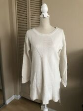 white cashmere blend sweater M super soft