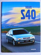 Prospekt Volvo S40, 2.1998, 40 Seiten