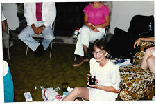 Vintage 80s PHOTO Teen Girl w/ Braces & Big Glasses Showing Watch? Gift
