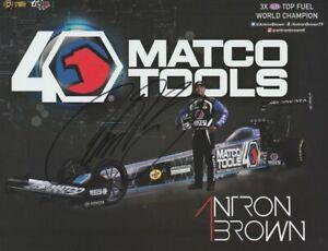 2019 Antron Brown signed Matco Tools Top Fuel NHRA postcard