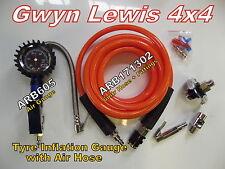 ARB605 & ARB 171302 Tyre Preasur Gauge & Air Hose Kit Gwyn Lewis 4x4 8274