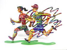 David Gerstein Jog Woman & Jog Man Marathon Metal Art Sculpture Jogging Runners