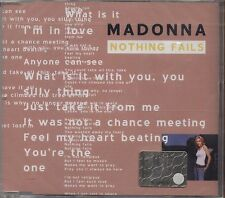 MADONNA - Nothing fails - CDs SINGLE  2003 SIGILLATO SEALED 4 TRACKS