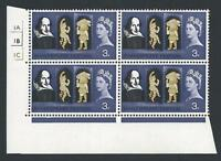 1964 Shakespeare Festival 3d (Ord) No Dot Cylinder With Two Varieties - MNH