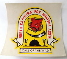 Vintage Decal Crest of North Carolina Fox Hunters Association