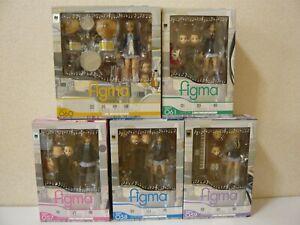 K-On! Figma Action Figure Set of 5 Yui Mio Ritsu Tumugi Azusa Lot NEW