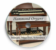 Rare Hammond Organ Manuals Schematics on DVD Magazines Service Repair Book 21