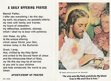 CATHOLIC HOLY CARD   A DAILY OFFERING PRAYER