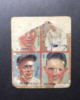 1935 GOUDEY 4 IN 1 Rick Ferrell Boston Red Sox #9G HOF Low Grade