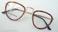 Braune Brillen Panto Metall mit Windsorringe in Hornoptik Unisexfassung Grösse M