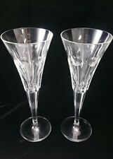 2 WATERFORD MILLENIUM LOVE TOASTING FLUTES Tall Pair Champagne Lot Set Heart