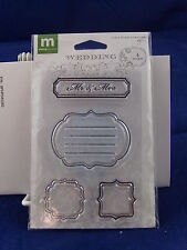NEW MAKING MEMORIES CLEAR STAMP SET MINI JOURNALING WEDDING MR AND MRS 31754