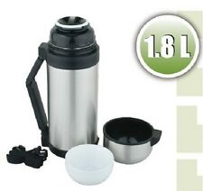 Stainless Steel Vacuum Flask Coffee Thermos Portable Insulated Travel 60 oz 1.8L