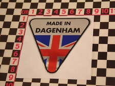 Made in Dagenham Chrome Sticker- Ford Cortina Zephyr Consul Zodiac Pilot Capri