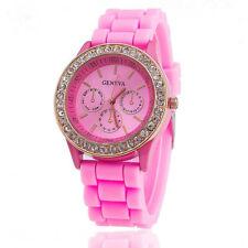 f367e0b8ef74 Banda de goma de diamantes de imitación Relojes de pulsera   eBay