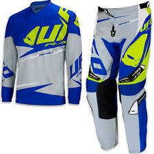 "UFO 2017 Revolt Race Kit MX ENDURO Pants 32"" Jersey Medium Combo Grey Blue"