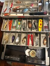 Vintage Plano Fishing Tackle Box Full of Lures and Extra Fishing Gear!