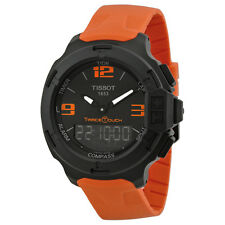 Tissot T-Race Touch Black Dial Orange Rubber Mens Watch T0814209705702-AU
