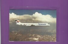 Spanair airlines issued MD-83   cont/l  postcard  #2